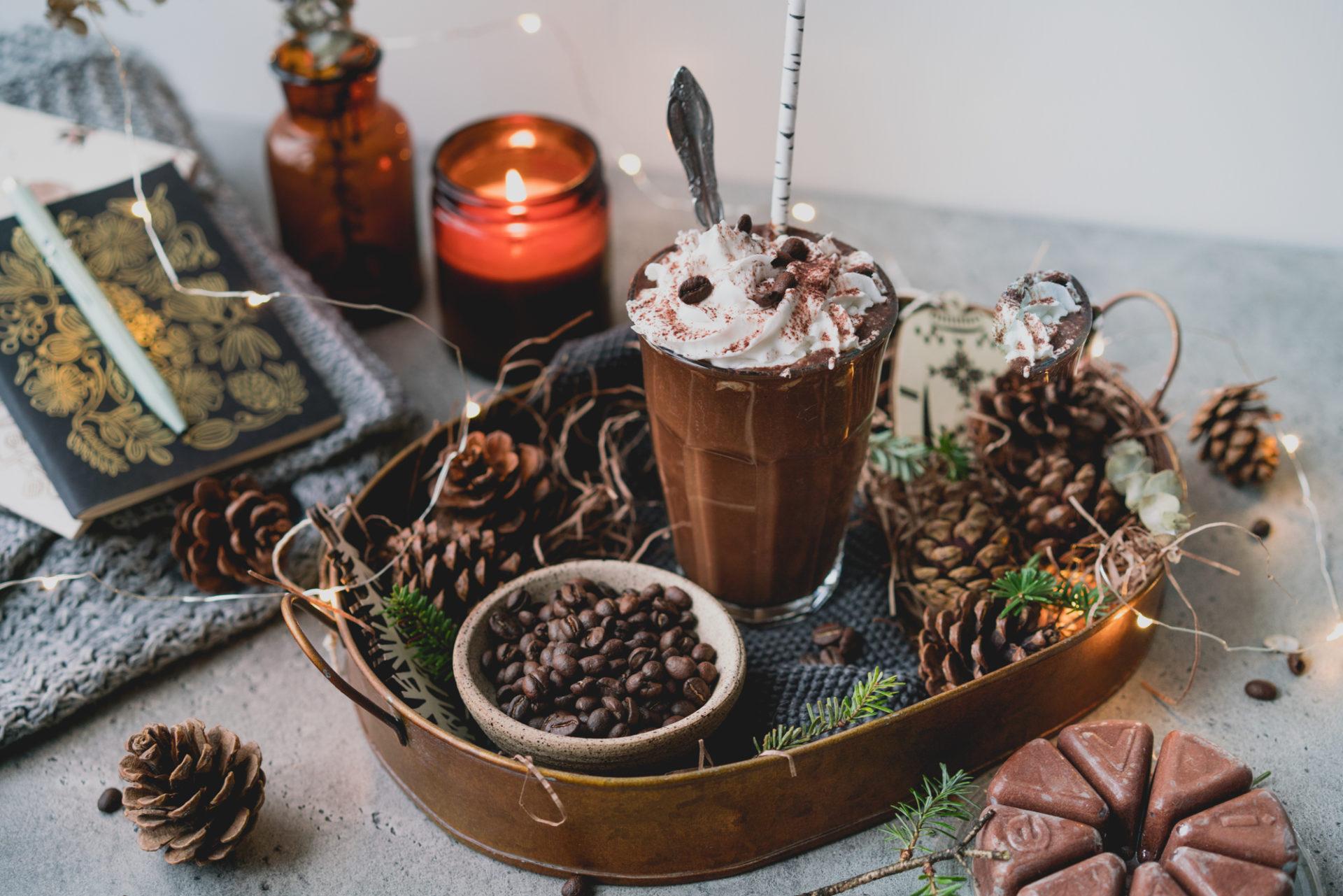 Présentation suggérée pour le café dessert végan d