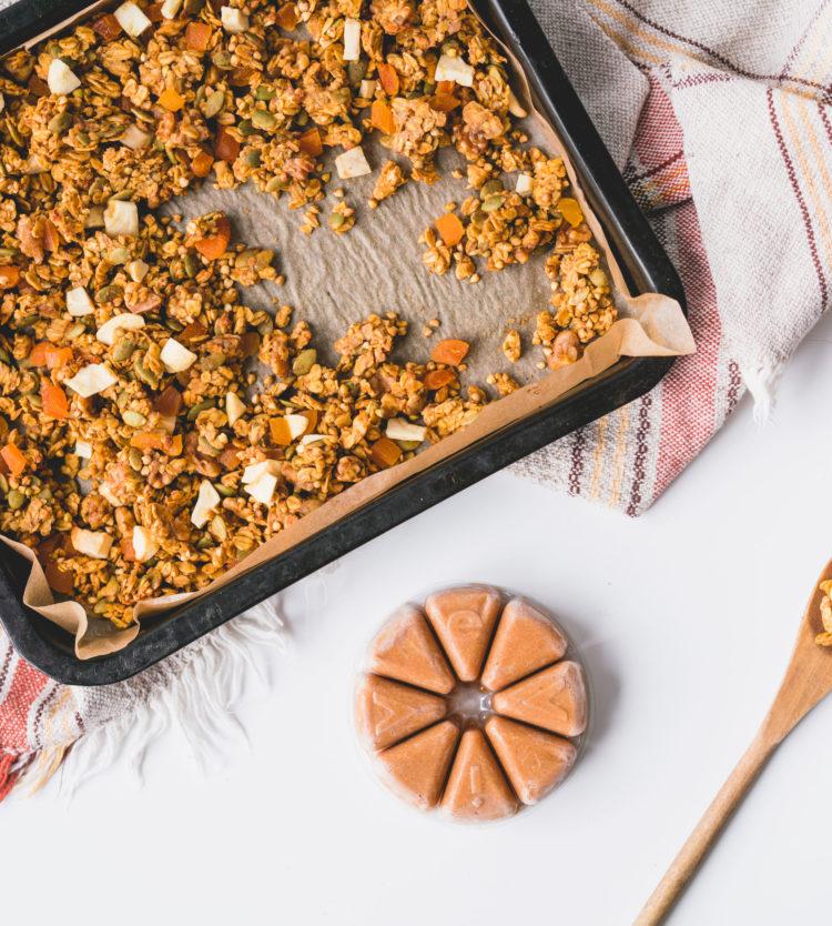 Recette de Granola Santé aux Pommes et aux Abricots Séchés