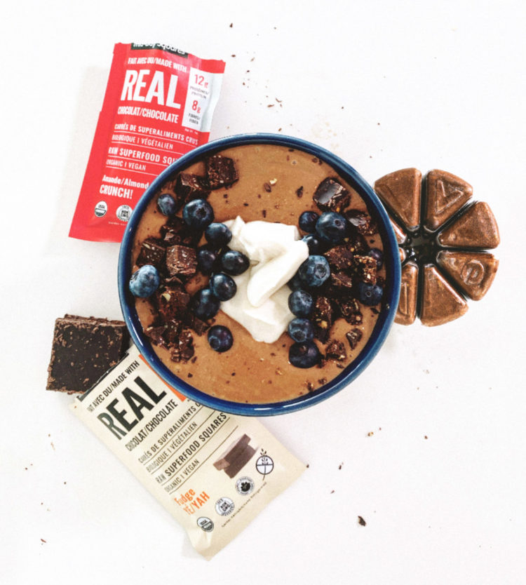 Chocolate Mocha & Mid-Day Squares Smoothie Bowl
