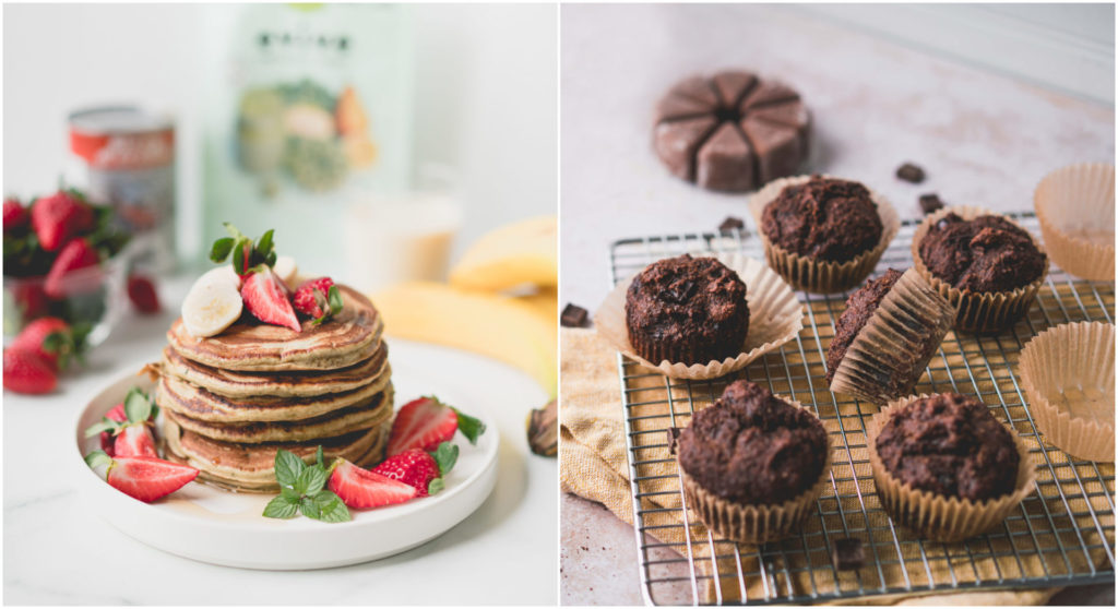 evive, evive smoothie, pancakes, muffins, baking