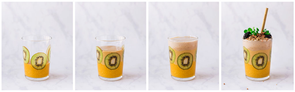 evive smoothie, evive, layered smoothie