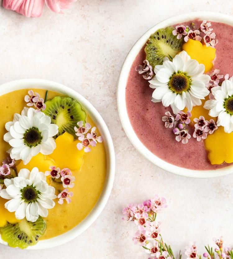 Magnifiques bols de smoothie pour la fête des Mères